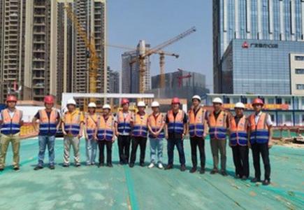 集团领导检查华润置地总部大厦项目施工现场